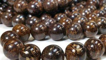 bronzite-beads
