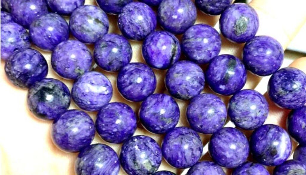 charoite-beads