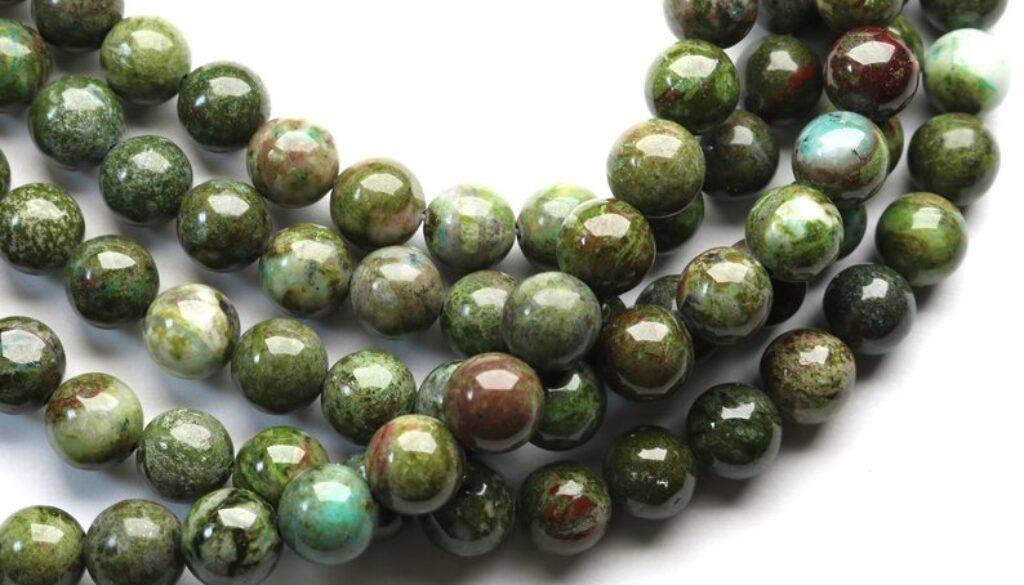 green-jasper-beads