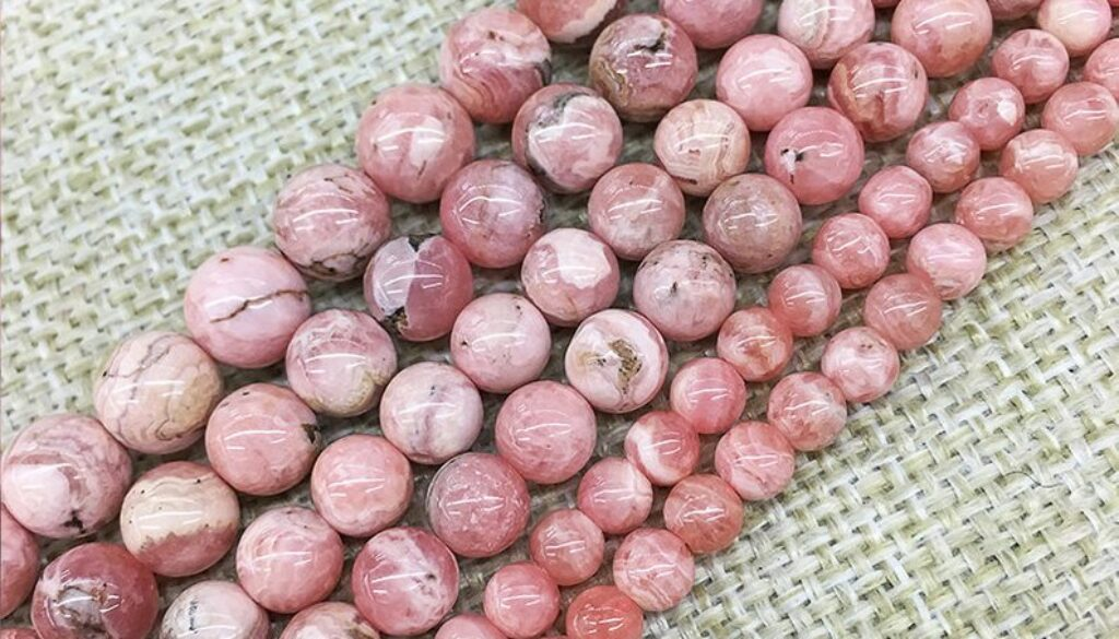 rhodochrosite-beads